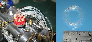 Miniature Silicone Fuel Line Tube 1mm 2mm 2.5mm 1/12 Tamiya 1/8 Pocher 1m