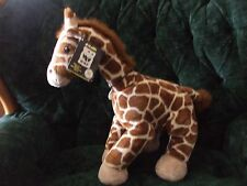 """Build a bear 19"""" Wwf 2005 Giraffe with tag and necklace"""