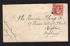 More details for zanzibar 1902 cover to brighton, england with 1901 1a carmine