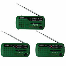 3* DEGEN DE13 Digital Radio FM MW SW Crank Dynamo Solar Emergency World Receiver