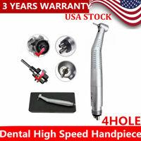 dental high speed LED handpiece fiber optic LED Triple spray 4 hole handpiece US