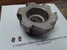 "4"" 90 degree indexable face mill, Sandvik R390-11T308 inserts #506-SDVK-4"
