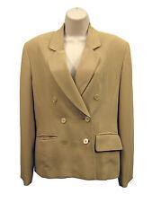 JONES NEW YORK Women Size 6 Tan Brown Beige Blazer Jacket Coat Double Breasted