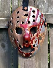 Jason Voorhees Rusted Metal Bloody Hand Print Mask -Design 1