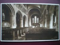 POSTCARD RP CHESHIRE CHESTER - THE NAVE LOOKING EAST - ST.JOHN'S CHURCH
