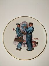 """1978 Norman Rockwell """"Plumbers"""" Gorham Collector's Plate"""