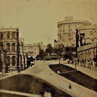 ORIGINAL - CIVIL WAR ERA CDV PHOTOGRAPH OF WINDSOR CASTLE by W.F.TAYLOR c1865