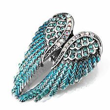Angel Wings Stretch Ring Blue
