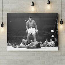 Muhammad Ali vs Sonny Liston - Famous Knockout - Canvas Rolled Wall Art Print