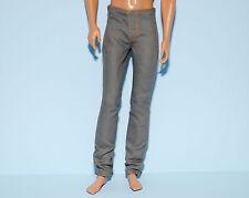 Medium Gray Jeans Denim Pants w Gold Thread KEN Fashion Genuine BARBIE Clothes