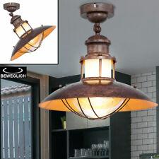Leuchte Landhaus Industrie Stil braun Küchen Beleuchtung schwenkbar Decken Lampe