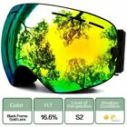 Snow Sports Goggles With Anti-fog Uv Protection For Men Women Interchangeable