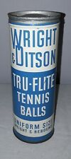 WRIGHT & DITSON TRU FLITE TENNIS BALLS CAN NICE