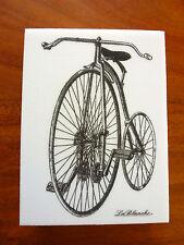 LaBlanche Stempel  Hochrad Fahrrad * Vintage * Feinkonturenstempel
