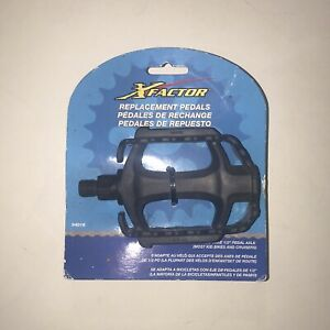 """Kent X Factor Replacement Pedals Bicycle 1/2"""" Part Number 94016 Brand New"""