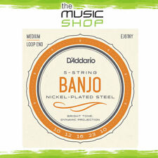 D'Addario 5-String Banjo Strings - Nickel - Medium - 10-23 - EJ61NY