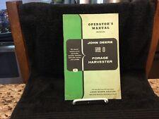 Vintage John Deere Operators Manual - # 6 Forage Harvester - OM - E33-1158