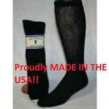 12 Pair of SOLE PLEASERS Black Over The Calf Diabetic Socks Size 13-15