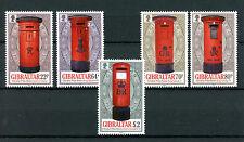 Gibraltar 2016 MNH Pillar Boxes 5v Set Post Boxes Stamps
