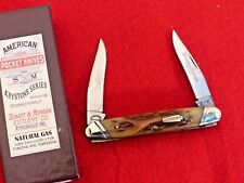 Schatt & Morgan USA XX 2010 mint in box 042121 bone muskrat knife ld