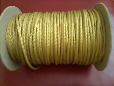 "3/16"" Braided Cotton Cord, Gold, 450 ft spool (Est.). New, Made in USA"