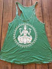 Spiritual Gangster  racer back size s women's tank top  green new