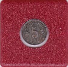 5 Pfennig Stadt Witten 1919 Kriegsnotgeld Notgeld