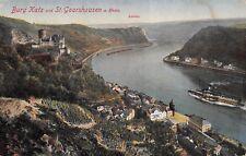 St. Goarshausen Rhein Germany c1910 Postcard Burg Katz Castle Rhine