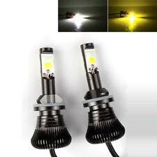 2x 80W H8 H9 H11 LED Fog Light Driving Bulbs Dual Color White 6000K Yellow 3000K