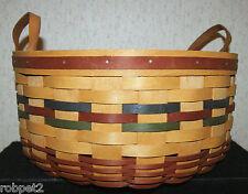 Longaberger 1995 Shades Autumn Basket of Plenty with insert and Liner