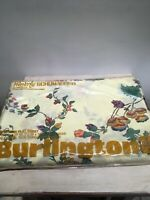 Vintage NOS Sealed Burlington Waverly  Schumacher Twin Sheer Set. Flat & Fitted