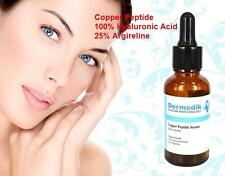 CUIVRE PEPTIDE 100% ACIDE HYALURONIQUE 25% ARGIRELINE SERUM FERMETE 30ml