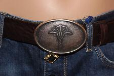 Joop! NEU Gr.85 Leder- Gürtel Ledergürtel OVP 129.- Silber Schnalle Logo Braun