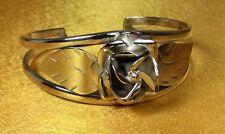 Vintage 925 Fine Sterling Silver Taxco Mexico Ladies Cuff Bracelet