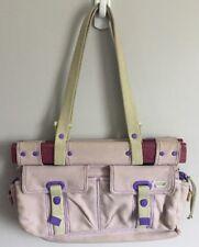 Diesel Distressed Light Purple Canvas Handbag Purse