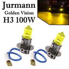 2x Jurmann H3 100W 12V Golden Vision Gelb Ersatz Scheinwerfer Halogen Auto Lampe