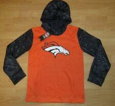 Denver Broncos NFL Team Performance Tech Hoodie Jacket Size Youth Medium