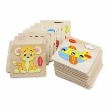 Wooden Animal Fruit Puzzle Baby Toddlers Preschool Educational Kids Toy Gifts FK