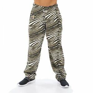 Zubaz NFL Men's New Orleans Saints Classic Zebra Print Team Logo Pants