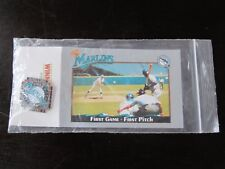 1993 Florida Marlins Stadium Giveway Pin Charlie Hough First Game First Pitch