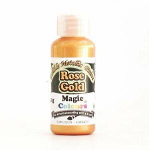 Magic Colours 100% Edible Rose Gold Metallic Food Paint - 32g