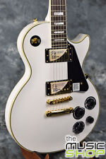 New Epiphone Les Paul Custom Pro Electric Guitar with Hard Case - Alpine White