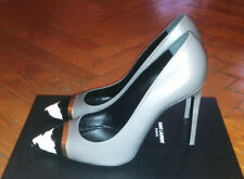 YVES SAINT LAURENT PARIS METAL & PYTHON-TOE PUMP - NEW!