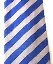 $235 Brioni Tie Blue Gray Hand Made Italy Men's Woven Striped Silk