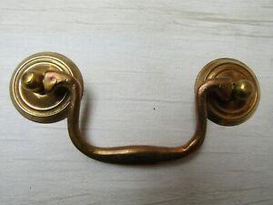 SMALL Vintage retro cabinet cupboard drawer drop bar swan neck pull swing handle