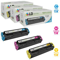 LD Remanufactured Replacements for Canon 131 Toners Cyan, Magenta, Yellow 3-Pack