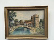 Peintures du XXe siècle et contemporaines aquarelles sur toile paysage