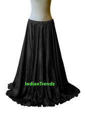 """40"""" Long Satin Full Circle Skirt Swing Belly Dance Costume Tribal Jupe Rock юбка"""