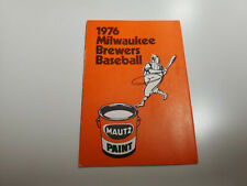 RS20 Milwaukee Brewers 1976 MLB Baseball Pocket Schedule - Mautz Paint