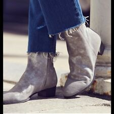 Free People Gray London Calling Ankle Boots